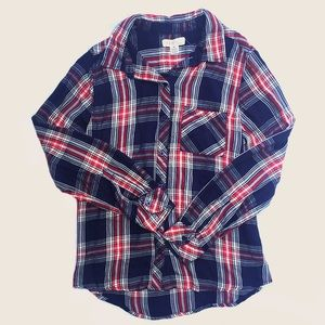 At Last Tops - -Brand New- Super Soft Button Down Flannel
