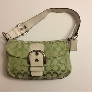 Coach Handbags - Coach Soho Signature Pocket Flap Bag Spring Green
