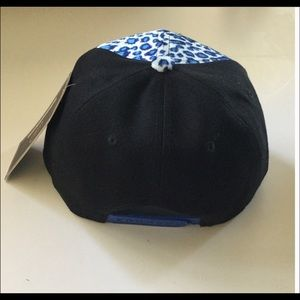 Boutique Accessories - Blue Leopard Print Snapback Cap