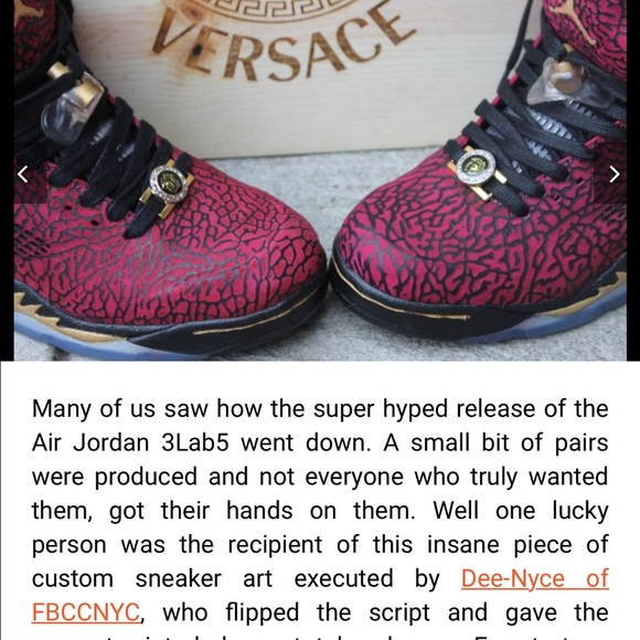 the best attitude 84176 a3711 Air Jordan Other - Air Jordan Versace 3lab5