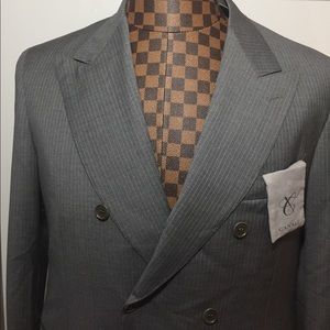 Canali Other - Canali -Gray Wool Lined Double Breast Blazer 52S