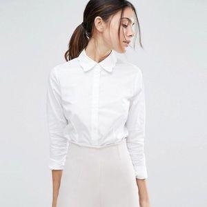 ASOS Scallop Collar White Shirt
