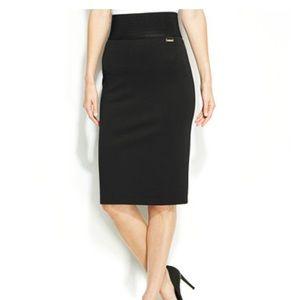 Calvin Klein Wide Waistband Pencil Skirt (S) NWT
