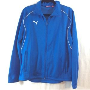 Puma Other - Puma blue and white jacket with zippered pockets