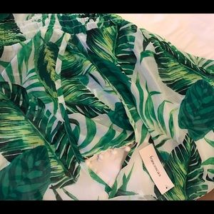 0cd7752df8 Francesca s Collections Swim - Tropical Leaves Swim Cover Up