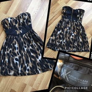 Kardashian Kollection Dresses & Skirts - Kardashian Kollection Leopard Strapless dress
