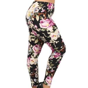 The UC Pants - New floral print blush plus size tc leggings soft