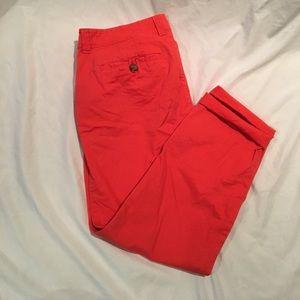 Old Navy Pants - Coral chino capris