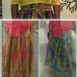 Dresses & Skirts - Dashiki Swing Maxi Skirts PLUS SIZES AVAILABLE