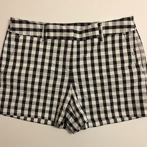 LOFT Pants - LOFT Black and White Checkered Shorts