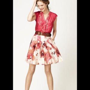 Loft watercolor floral skirt