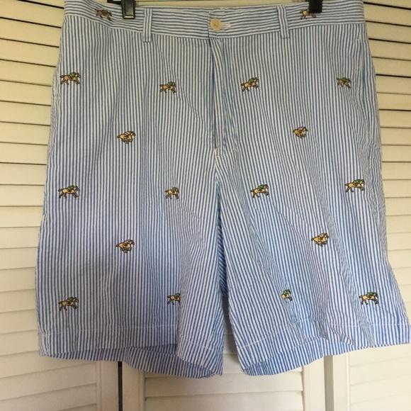 Vineyard Vines Shorts 9 Inch Derby Horse Embroidered Seersucker