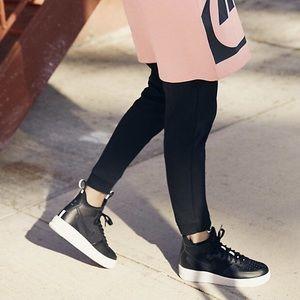 Nike Shoes - Nike Ultraforce Black Leather + Mesh Sneakers