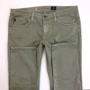 AG Adriano Goldschmied Pants - Green AG Super Skinnies NWOT
