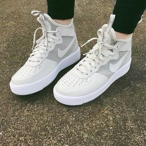 Nike Shoes - Nike Ultraforce Light Bone Leather + Mesh Sneakers