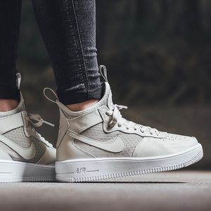 Nike Shoes - Nike Ultraforce Light Bone Leather + Mesh Sneakers