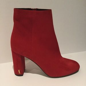Saint Laurent Shoes - SAINT LAURENT LOULOU ANKLE BOOTS.