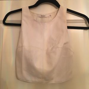 Bailey 44 leather crop top.