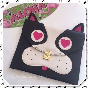 Betsey Johnson Handbags - NWOT Betsey Johnson Bulldog Envelope Clutch