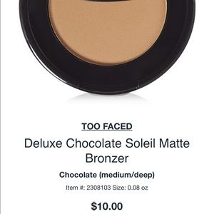 Too Faced Other - TOO FACED Chocolate Soleil Medium/Deep Bronzer