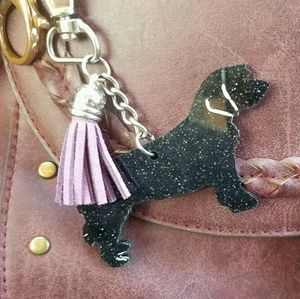 Accessories - CUSTOM kechain of your doggie siloutte & tassel