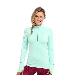 Nike Tops - Nike mint/aqua elements half zip running top ✨