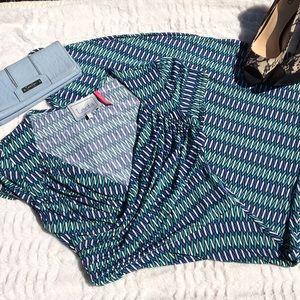 Leota Dresses & Skirts - Leota   Compass Rose stretchy faux wrap dress