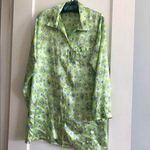 VS Green Satin Night Shirt