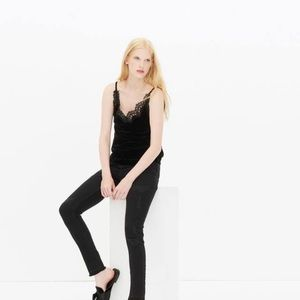 ❤️FINAL SALE❤️Sandro Paris Black Velvet Lace Tank