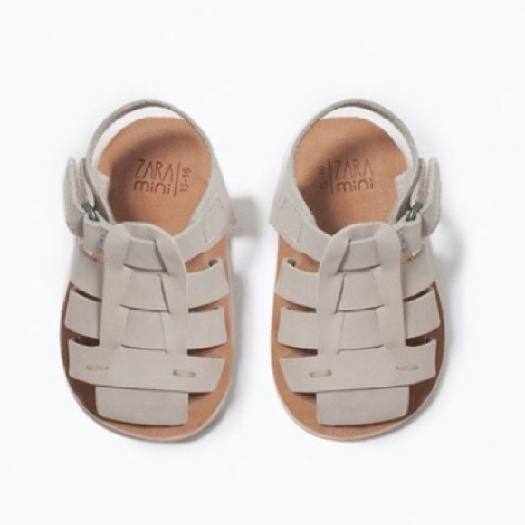 af819470b NWT ZARA Leather baby sandals 3-6 months