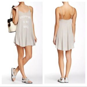 NWT WILDFOX Shopping Is My Cardio gray dress L