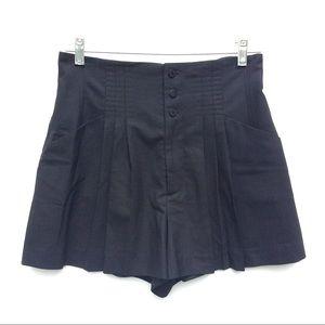 CATHERINE MALANDRINO black high waist SHORTS 8