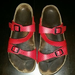 Birkenstock Shoes - Red polka-dot birki's by birkenstocks