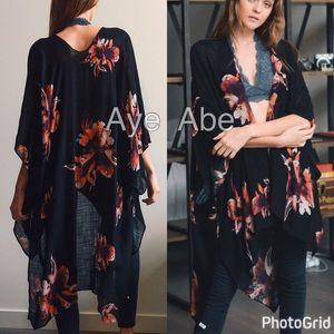Accessories - Floral print kimono wrap scarf beach sexy trendy