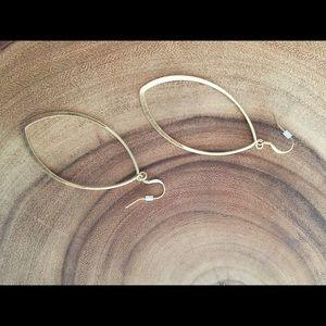 """Hoop earrings. 3"""" from hook to bottom."""