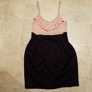 Forever 21 Dresses & Skirts - Black & Light Pink Form Fitting Dress Size M