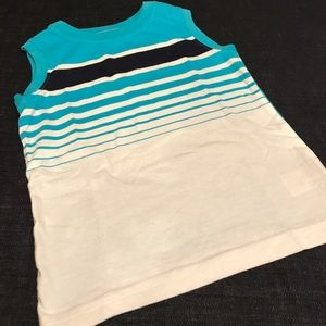 Circo Shirts & Tops - Circo Blue & White Striped Sleeveless Tee, 3T