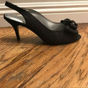 A. Marinelli Shoes - A.Marinelli new black sparkly heels with bow