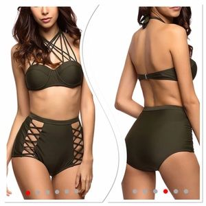 Other - SALE 48 hours!!! High Waist Cage Halter Push Up