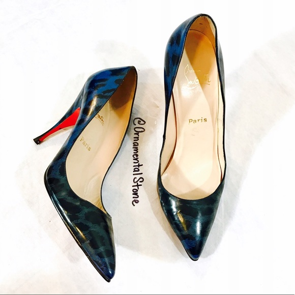 a7520f9712c Christian Louboutin Shoes - CHRISTIAN LOUBOUTIN BLUE LEATHER ANIMAL PRINT  PUMP
