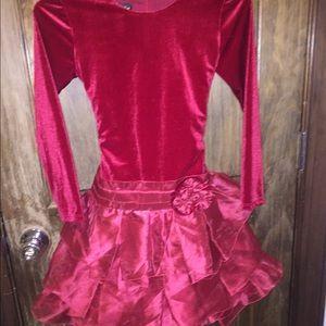 Isobella & Chloe Other - Like New Isobella & Chloe red velour dress size 10