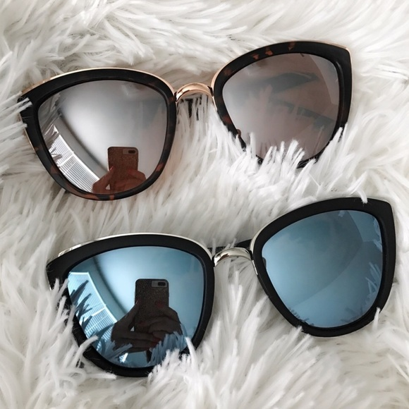 Cat Eye Black Gucci Sunglass Frame With Nose Pads