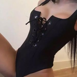 Other - Lace Me Up Black One piece