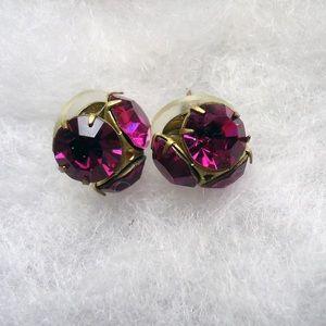 John Wind Jewelry - John Wind Red Rhinestone Earrings & Necklace