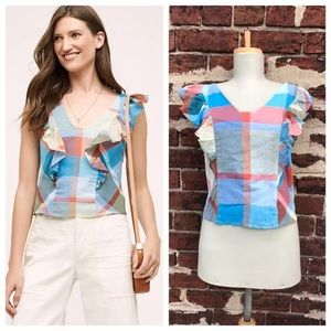 NWT Anthropologie 14 Maeve Drive-In Plaid Tank Top