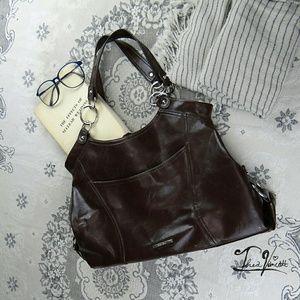 Nine West Handbags - NINE WEST - Chocolate Shoulder Bag!