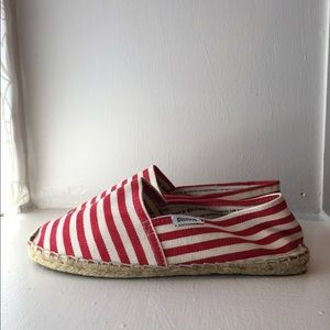 Soludos Shoes - Soludos for J.Crew red & white striped espadrille
