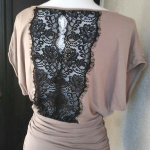 Express Lace Back Top