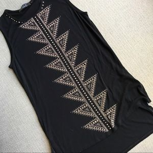 Tops - Gold Studded Tank