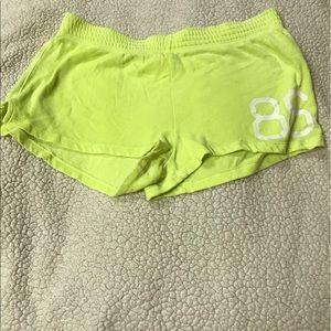PINK Victoria's Secret Pants - Victoria's Secret 'Pink' lime green shorts size M